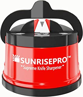 SunrisePro Supreme Knife Sharpener for all Blade Types, Razor Sharp Precision &..