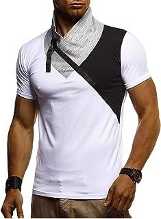 LEIF NELSON Herren Sommer T-Shirt Rundhals Ausschnitt Kurzarm Sweatshirt Longsleeve Basic Shirt Hoodie Slim Fit LN1360