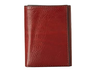 Bosca Old Leather Collection Trifold Wallet (Cognac Leather) Bill-fold Wallet