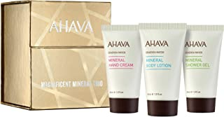 Sponsored Ad - AHAVA Magnificent Mineral Trio Value Set | Dead Sea Mineral Hand Cream, Mineral Body Lotion & Mineral Showe...