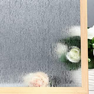 VELIMAX Static Cling Rain Glass Window Film Removable Rain Decorative Window Film Privacy Anti-UV Heat Control (17.7