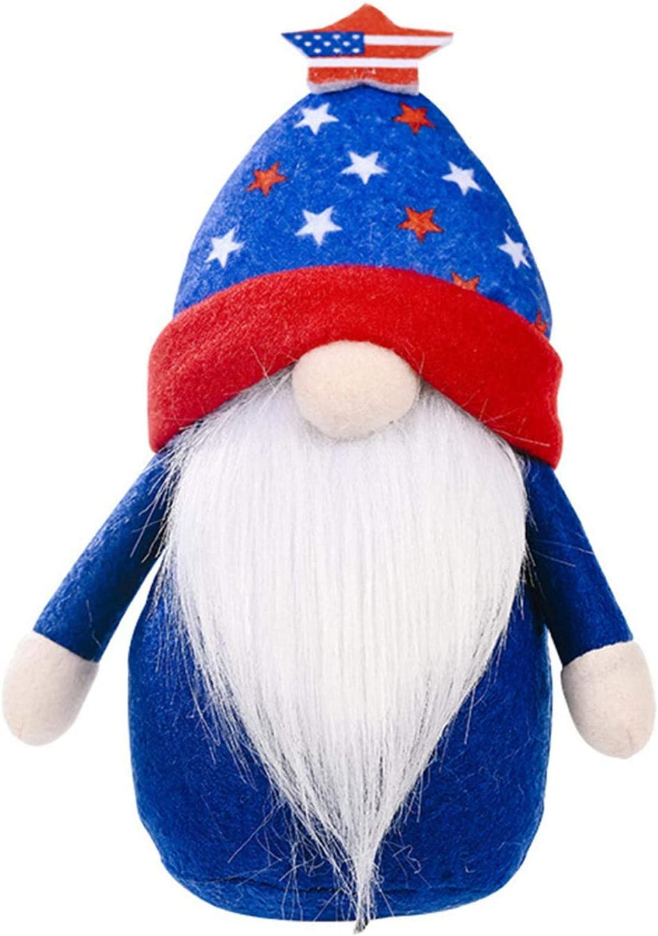 Ksruee U.S. Regular discount Independence Day Gnome outlet Toy Plush Doll Faceless Hand