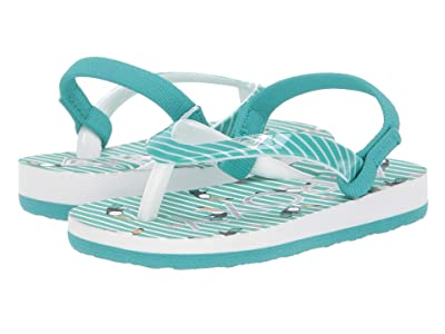 Roxy Kids Pebbles VI (Toddler) (Teal) Girls Shoes