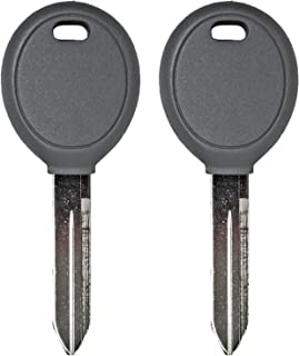 qualitykeylessplus Two Replacement Transponder Chip Keys for Chrysler Dodge Jeep Plymouth Eagle Vehicles with Part Y160PT