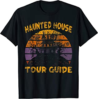Vintage Haunted House Tour Guide Funny Retro T-Shirt