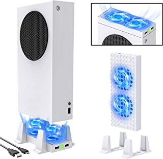 Cooling Vertical Stand for Xbox Series S Console, MENEEA Double Cooling Fan Accessories with Type-C Input Port, 3 Levels A...