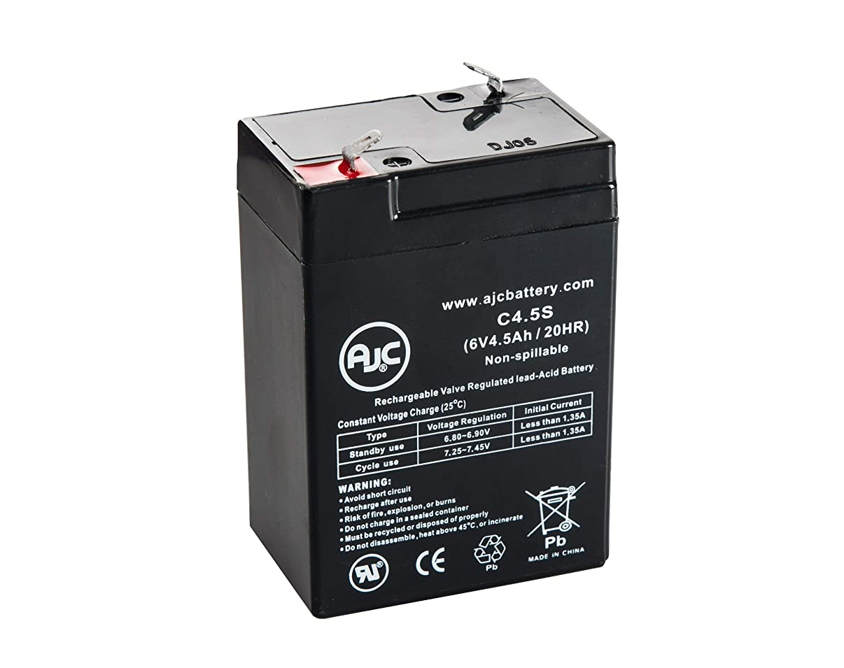 Lithonia Lighting ELB06042 6V 4.5Ah Sealed Lead Acid Battery - This is an AJC Brand Replacement
