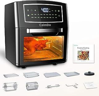 CalmDo Friteuse sans Huile, 12L Friteuse à Air Chaude 1500W Écran Tactile avec 18 Programmes pour Faire Frire, Rôtir, Désh...