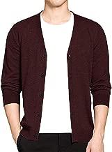 Wool Cardigan Men Sweater V Neck Mens Sweater Woolen Male Cardigans Knitwear M-3Xl 2823