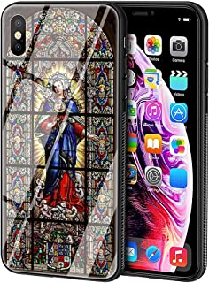 LBIAO 9H Tempered Glass iPhone 5/5s/SE Cases, LB-73 Notre Dame de Paris Design Printing Shockproof Anti-Scratch Soft Silicone TPU Cover Phone Case for Apple iPhone 5/5s/SE