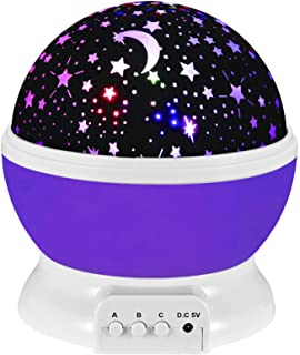 Star Projector Night Light for Kids, Moon Star Night Lights Starry Rotating Projection..