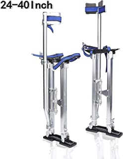 24-40 Professional AL-Alloy Stilts Height Adjustable Aluminum Tool Stilts Lifts for Painting Taping or Cleaning Red AYNEFY Drywall Stilts