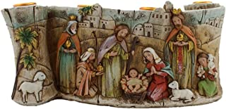 Silent Night Collection Scroll Nativity Scene Advent Candle Holder Approx 11-inch long and 4.5-inch Height