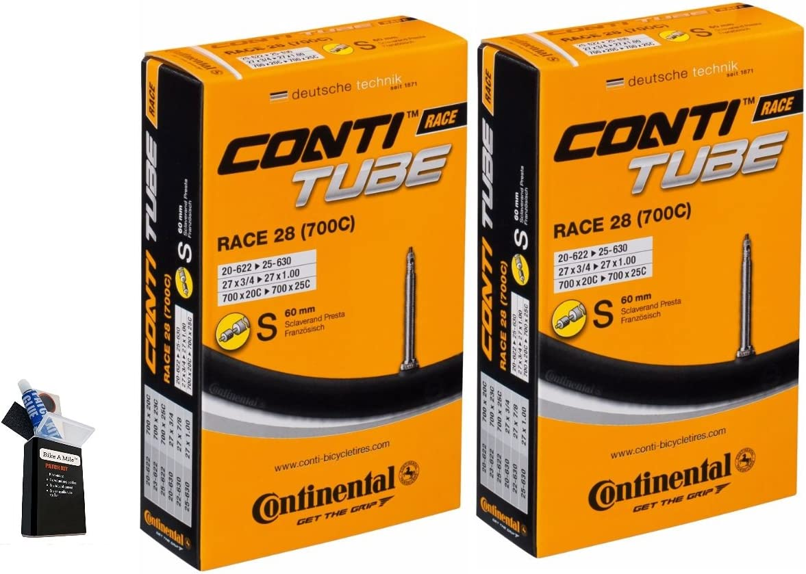 Continental 42MM 60MM Presta Valve Tube Pack of 2 Genuine Max 65% OFF Free Shipping Bicycle