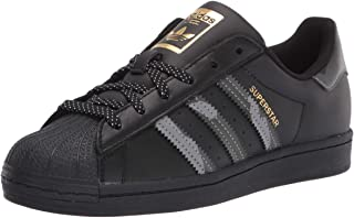 Adidas Superstar Shoe Sneaker da Uomo, Nero (Nero Nero Oro Metallizzato.), 41 1/3 EU