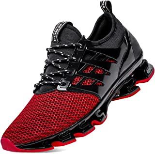 YZHYXS - Scarpe da ginnastica da uomo, per corsa, tennis, camminata, Nero (8066 Rosso), 42 2/3 EU