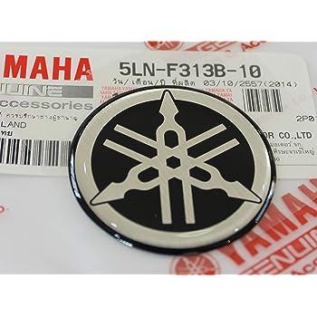 Motoneve 100/% GENUINE 40mm Diametro YAMAHA TUNING FORCELLA Decalcomania Adesivo Emblema Logo ROSSO In rilievo A cupola A Gel Resina Autoadesivo Moto ATV Sci Nautico