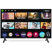 Shinco 98 cm (39 inches) HD Ready Smart LED TV SO40AS (Black) (2021 Model) | with Alexa Built-in