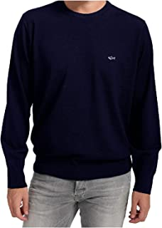 PAUL & SHARK COP1094-050 Pullover Girocollo Lana Merino Pettinata Uomo Blu Navy Regular Fit