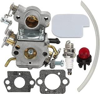 Hilom Carburetor with Air Filter Spark Plug for Poulan Craftsman Zama C1M-W26C 545070601 545040701 530035590 Chainsaw P3314 P3314WS PP3516 P3416 P4018