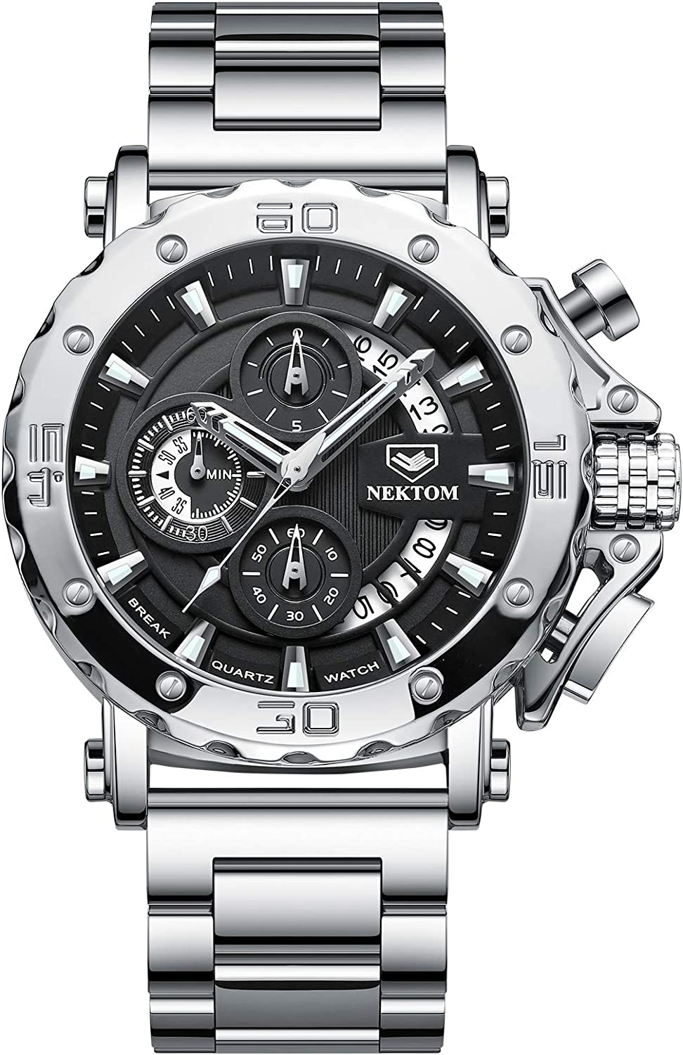 NEKTOM Discount mail order Military Watches for Men Large Workout Wa Topics on TV Watch Army Face