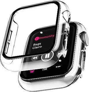 LϟK 2 Pack Funda Protector de Pantalla de Cristal Templado Incorporado para Apple Watch 40mm Series 6 5 4 SE - Estuche Pro...