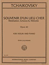 Tchaikovsky Pyotr Ilyich Three Pieces, Op 42. For Violin and Piano. by Ivan Galamian. International