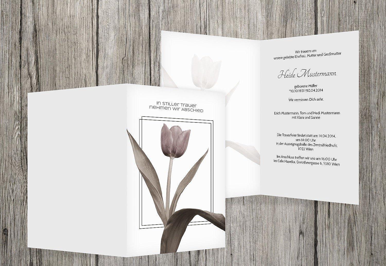 Para tu estilo de juego a los precios más baratos. Tarjeta Tarjeta Tarjeta de luto tulipán, blancoo, 40 Karten  mejor calidad mejor precio