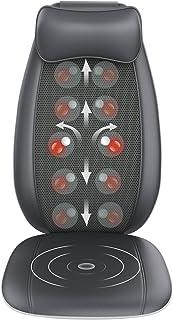Back Massager, RENPHO S-Shaped Shiatsu Massage Seat Cushion with Vibration, Heat, Deep Kneading Rolling, Massage Chair Pad...