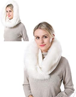 Women Winter Warm Infinity Plaid Cashmere Scarf Soft Lightweight Circle Loop Knitted Shawl Wrap with Tassel