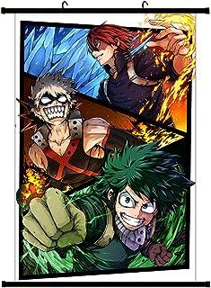 WerNerk My Hero Academia- Izuku Midoriya Deku and Bakugo Katsuki and Todoroki in Poster Wall Decoration(20X30cm)