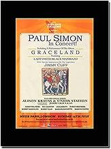 gasolinerainbows - Paul Simon - Graceland - Hyde Park 2012 - Matted Mounted Magazine Promotional Artwork on a Black Mount