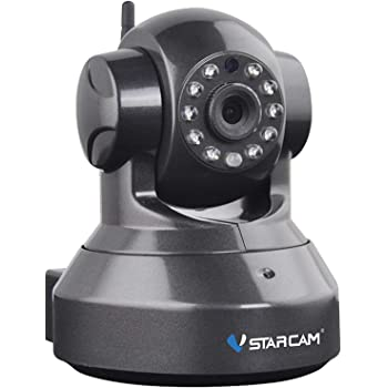 Vstarcam IP Camera 720P HD WiFi Network Surveillance Security System Video Recording Sonic Recognition P2P Pan Tilt Remote Motion Detect Alert With Two-Way Audio Support 128GB Micro SD (Black)