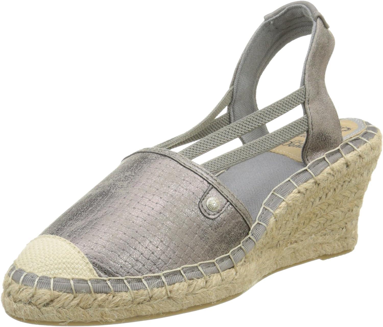 Mustang Women Sandals Metallic, (black-Kombi) 1220-902 258