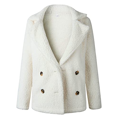 0fd037e08 PRETTYGARDEN Women's Fashion Long Sleeve Lapel Zip Up Faux Shearling Shaggy  Oversized Coat Jacket with Pockets