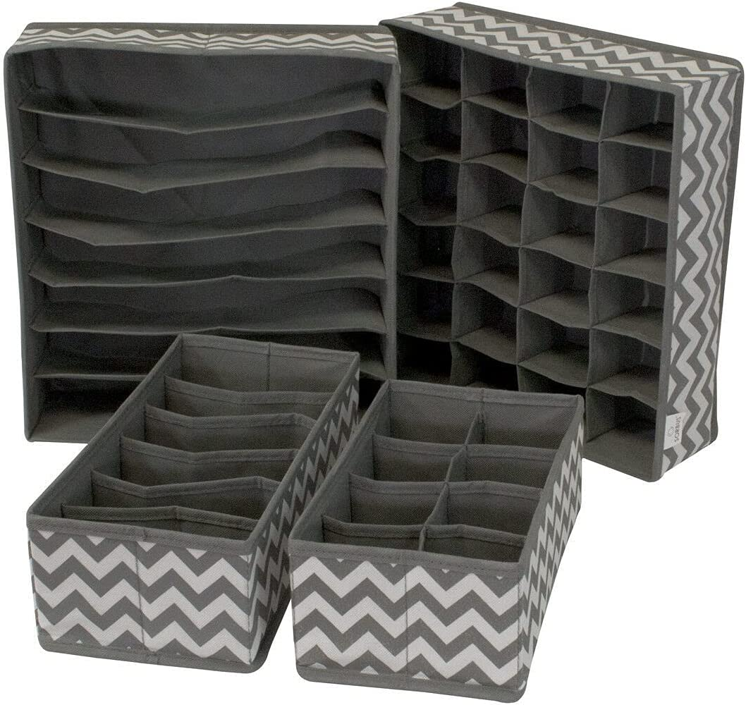 LCSA Set of New popularity 4 Foldable Ranking TOP6 Drawer Dividers an Storage Boxes Closet
