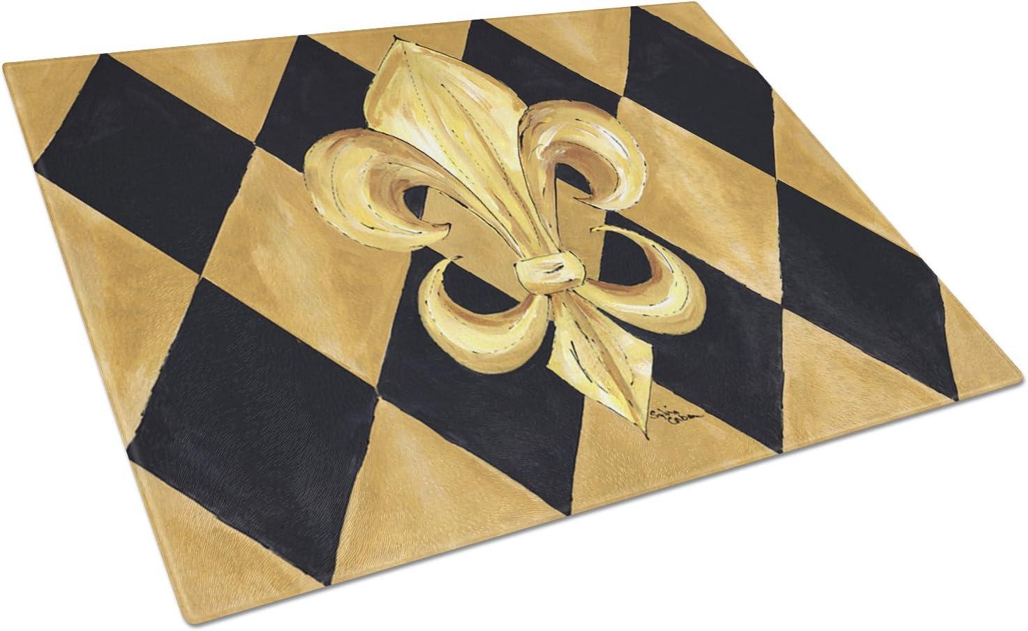 Caroline's Treasures Special sale item 8125LCB Black Branded goods and Gold Fleur New de Orl lis