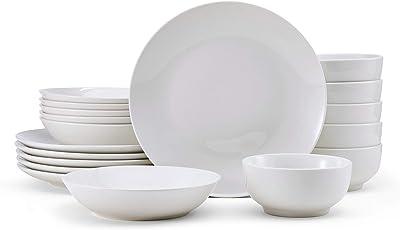 Amazon Com Corelle Service For 6 Chip Resistant Winter Frost White Dinnerware Set 18 Piece Dinnerware Sets