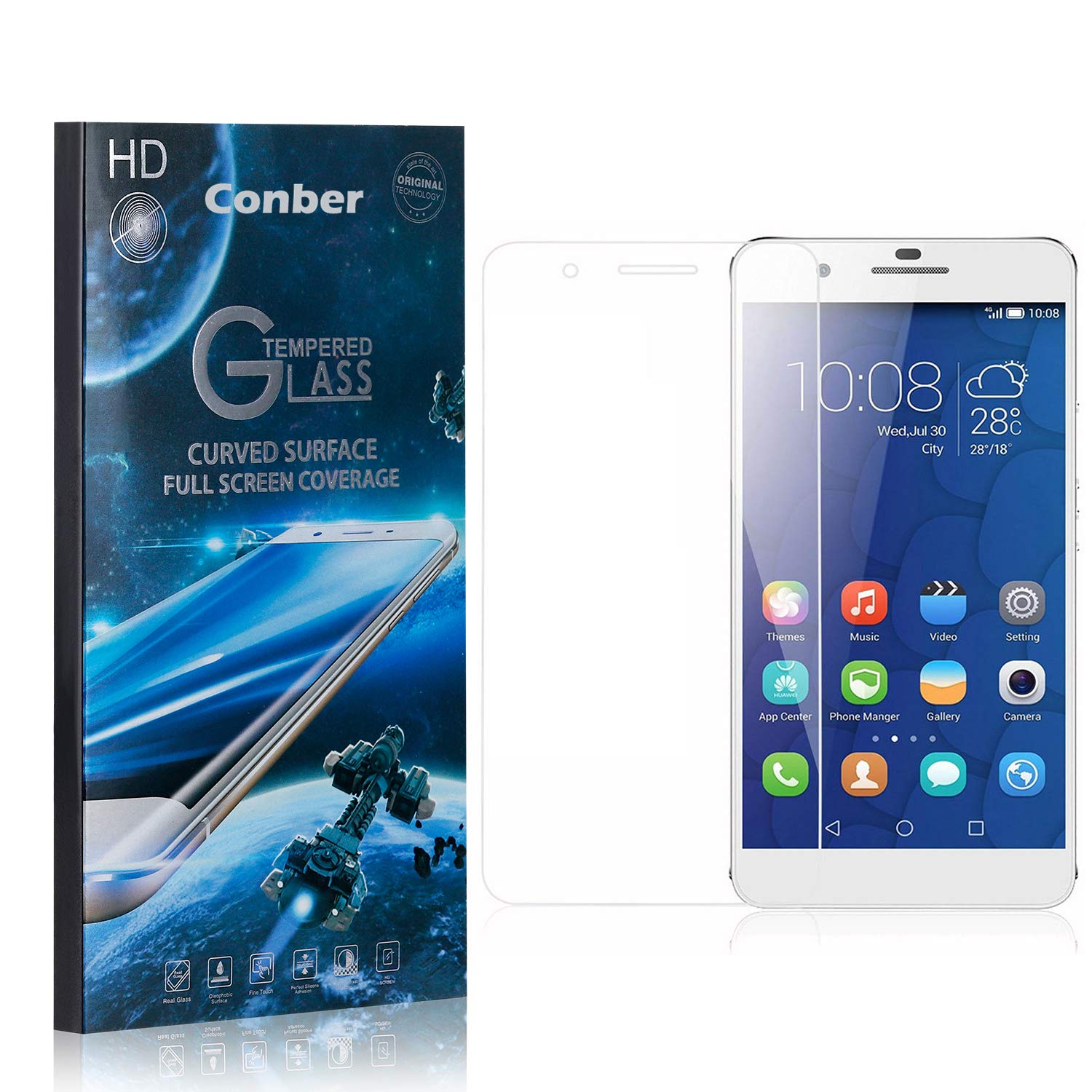 Conber 4 Pack Screen Online limited quality assurance product Protector for Lite Mate Scratc Huawei 9