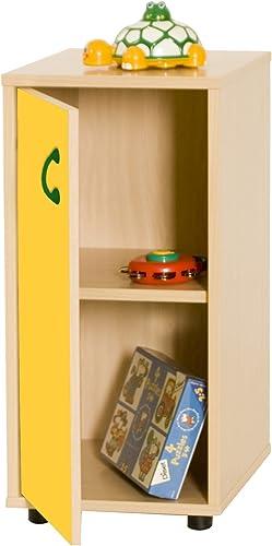 compras en linea Mobeduc Mueble Infantil Infantil Infantil Bajo Armario 2 estantes 360, Haya, Haya y amarillo, 36x40x76.5 cm  barato en alta calidad