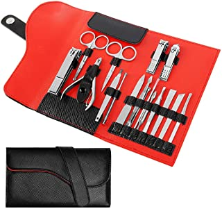 NAVANINO 17-Piece Pedicure & Manicure Kit, Fingernail & Toenail Clipper Set for Men & Women, Professional Care & Grooming Tools for Face, Foot, Hand & Nail