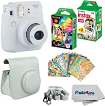 Fujifilm Instax Mini 9 Instant Film Camera (Smokey White) - Fujifilm Instax Mini Instant Film, Twin Pack - Fujifilm Instax Mini Rainbow Film - Case for Fuji Mini Camera – Fuji Instax Accessory Kit