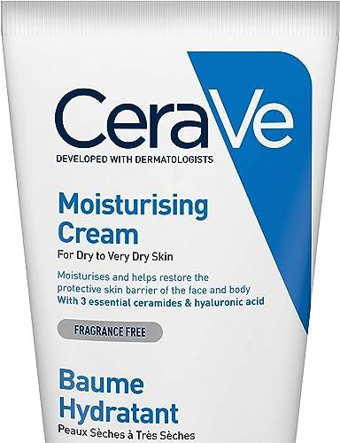 CeraVe Crema Hidratante |170gr| Hidrante diario para rostro y cuerpo para piel seca