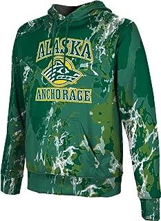 ProSphere University of Alaska Anchorage Men's Pullover Hoodie, School Spirit Sweatshirt (Marble)