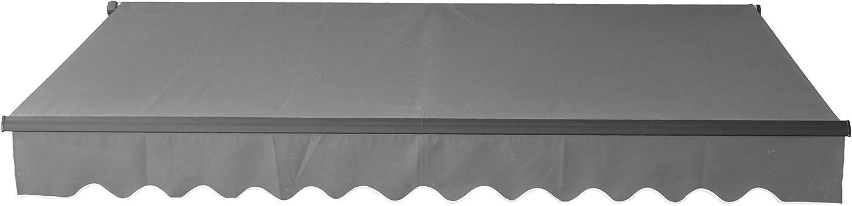 ALEKO ABM10X8BK81 Motorized Black Frame Retractable Home Patio Canopy Awning 10 x 8 Feet Black