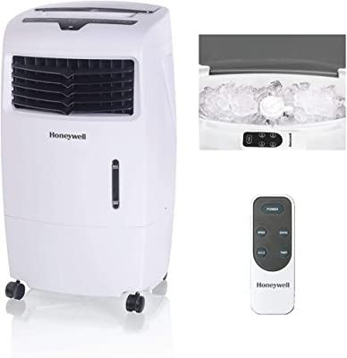 Honeywell 500 CFM White with Remote Control and an Extra Honeycomb Filter Indoor Evaporative Air Cooler
