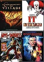 Wacky Horror Sci Fi Mega Movie Pack: Blade Runner (Final Cut) + Army of Darkness (Screwhead Edition) & Stephen King's It & The Village DVD Chills Thrills Sciencey Stuff Bundle
