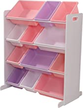 Colori Pastello e Bianco KidKraft 15450 Portagiochi Sort It And Store It con 12 Contenitori Mobili per Camera da Letto e Sala Giochi per Bambini