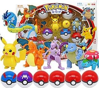 6Pcs / SetPokemonBall Leksaker Pikachu Charizard Action Figure Model Elf BollenPokeballOmvandlings Toy BarnFödelsedag...