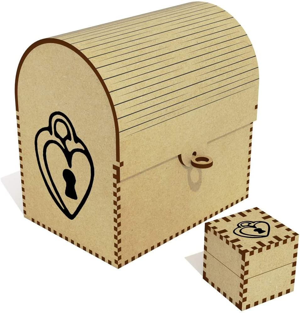 Azeeda 'Heart Lock' Treasure Complete Free outlet Shipping Box Jewellery TC00028171 Chest